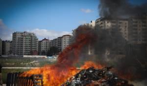 עיריית ירושלים ערכה שריפת חמץ מרכזית