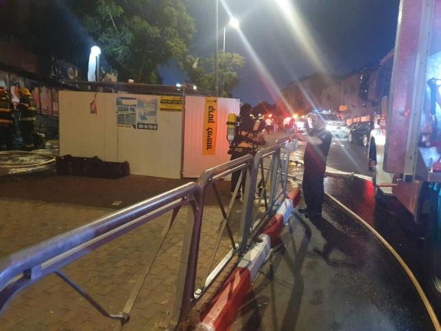 ביתר: פרצה  שריפה בסופרמרקט ברחוב בן זכאי