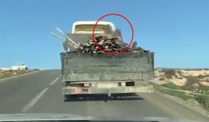 על המשאית: 2 ילדים מחזיקים קרשים. צפו