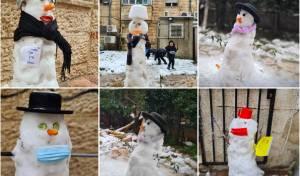 אלו הן בובות השלג של הילדים הירושלמים
