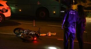 'רוכב האופניים נפצע קשה בתאונה עצמית'