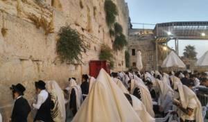יהודים מתפללים בי' טבת - בכותל