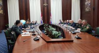 """משלחת צה""""ל במפגש תיאום עם צבא רוסיה"""