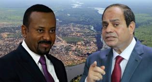 הנשיא סיסי וראש הממשל אלי אחמד על רקע הנילוס