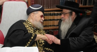 """צפו: ביקור מיוחד אצל הגר""""ע יוסף"""