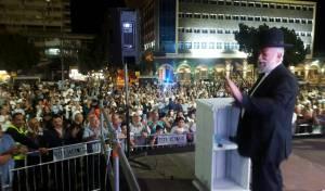 """הרב שלמה דידי בעצרת, הערב - תושבי טבריה """"הכתירו"""" את הרב שלמה דידי"""