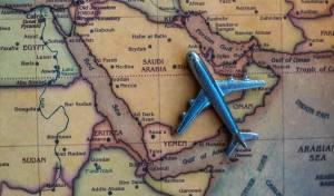 מטוס מעל שטח סעודיה