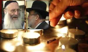 בתמונות הקטנות: הר' יצחק רוזנברג וחיים פרנס, שטבעו באסון