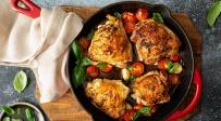 עוף עם ירקות במרינדת בלסמי ובזיליקום