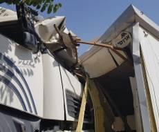 משאית התנגשה בחיידר, פעוט נפצע בינוני