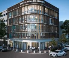 הדמייה רובע הרפואה הדיגיטלית שיוקם בעיר התחתית בהובלת היזם אראל מרגלית במסגרת הפרויקט המשותף