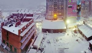 צפו: השלג הראשון בסמוך לציון רבי נחמן