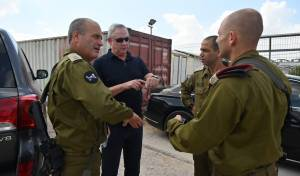 גנץ במפגש עם מפקדים