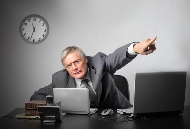 המנהל הודיע בצעקות שתפסיק להטריד אותו. אילוסטרציה