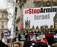 הפגנה אנטי-ישראלית בבריטניה