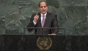 """הנשיא סיסי באו""""ם אתמול - סיסי לאזרחי ישראל: """"תמכו בהנהגה שלכם"""""""