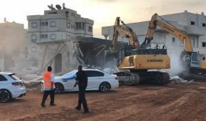 כך הרסה המשטרה מבנים בג'לג'וליה • צפו