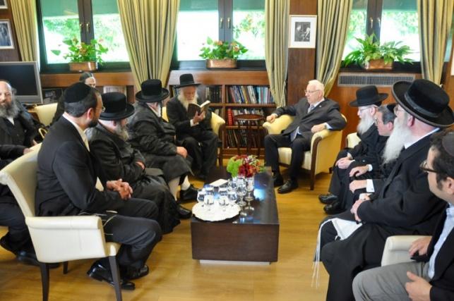 הנשיא בפגישתו עם גדולי ישראל