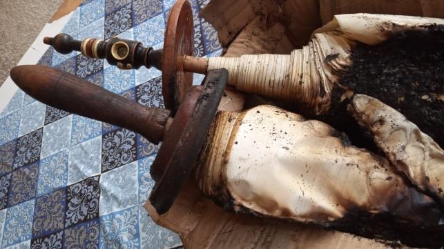 ביום א': הלווית ספר התורה שנשרף בחדרה
