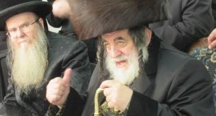 """האדמו""""ר מספינקא-ב""""ב בשבעה על פטירת רעייתו הרבנית ע""""ה"""