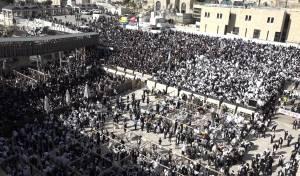 תיעוד מרהיב: ברכת הכהנים בכותל המערבי
