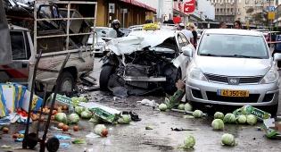 תאונה בתל אביב: ירקות ניזוקו