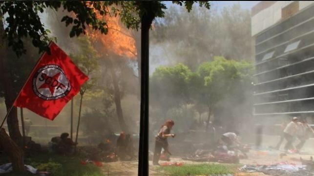 מחריד: רגע פיגוע ההתאבדות בטורקיה
