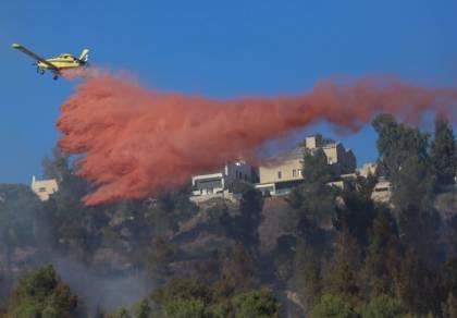 השריפה במבשרת: נבלמה התפשטות האש