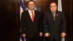 ישראל כץ בפגישה עם נשיא גואטמלה, הערב