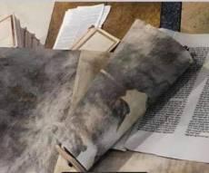מחריד. ספר תורה שהושחת בבית הכנסת
