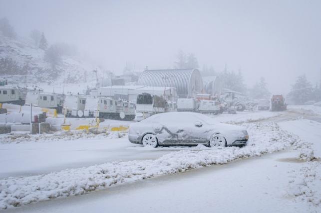 שלג ברמת הגולן
