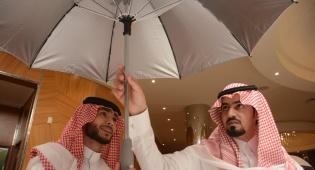 המטרייה הממוזגת בהדגמה - מהנדס סעודי המציא את המטרייה הממוזגת