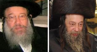 מימין: רבי גדליה משה, משמאל: רבי שלמה