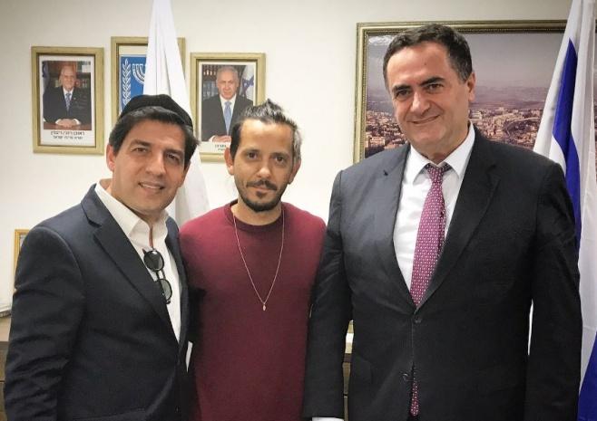 ציון ברוך ורב הסלבס נפגשו עם שר התחבורה