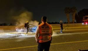 נהג חרדי כבן 30 נהרג בתאונה מחרידה כשרכבו עלה באש