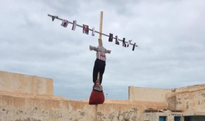 טקס שריפת המן בג׳רבה שבתוניס • תיעוד