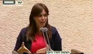 חוטובלי, בדבריה - ציפי חוטובלי מול חברי הכנסת הערבים. צפו