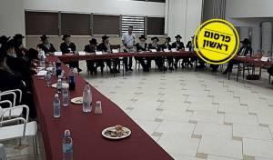 פגישת הרבנים עם בעלי המפעל