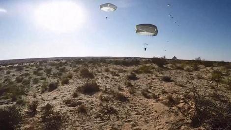 צנחנים - מחדל: מטוס צבאי עבר מתחת לצנחנים
