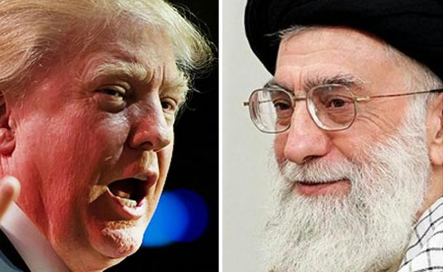 הנשיא האמריקני טראמפ ומנהיגה העליון של איראן חמינאי