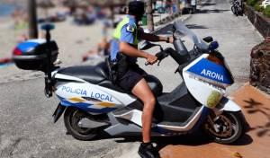 שוטר בחוף הים. אילוסטרציה