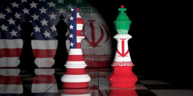"""דגלי איראן וארה""""ב, אילוסטרציה"""