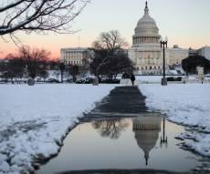 שלג בגבעת הקפיטול בוושינגטון