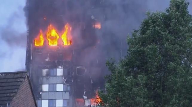 הרוגים בשריפת ענק במגדל דירות בלונדון