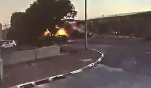 וידאו: פגיעה ישירה במפעל בעיר שדרות