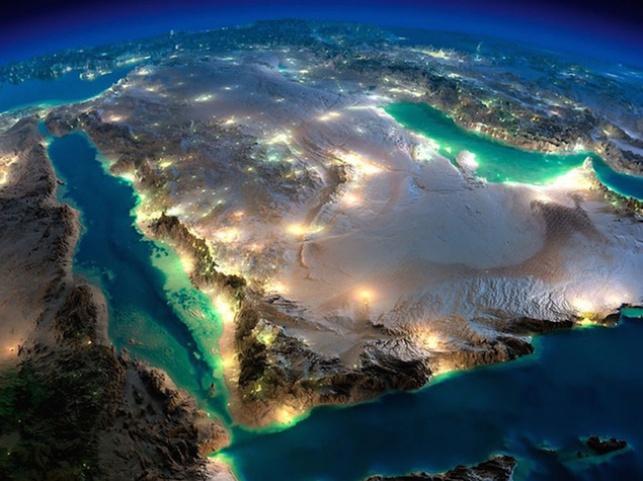 כך נראה המזרח התיכון מהחלל בלילה