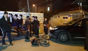 רוכב אופניים נפגע בשכונת בית ישראל • צפו