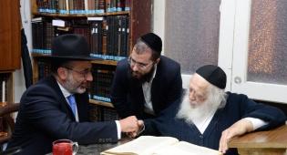 הרב גולדשטיין אצל מרן שר התורה