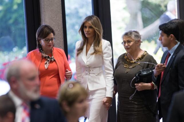מלניה טראמפ בעת ביקורה בישראל