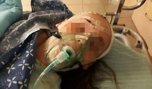 הילדה הפצועה, בבית החולים